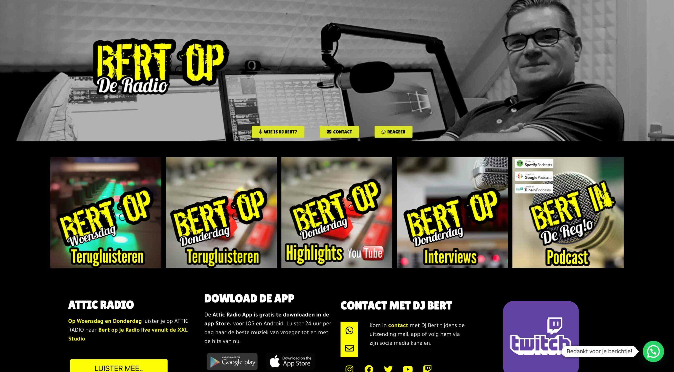 332 - Bert op de Radio.nl